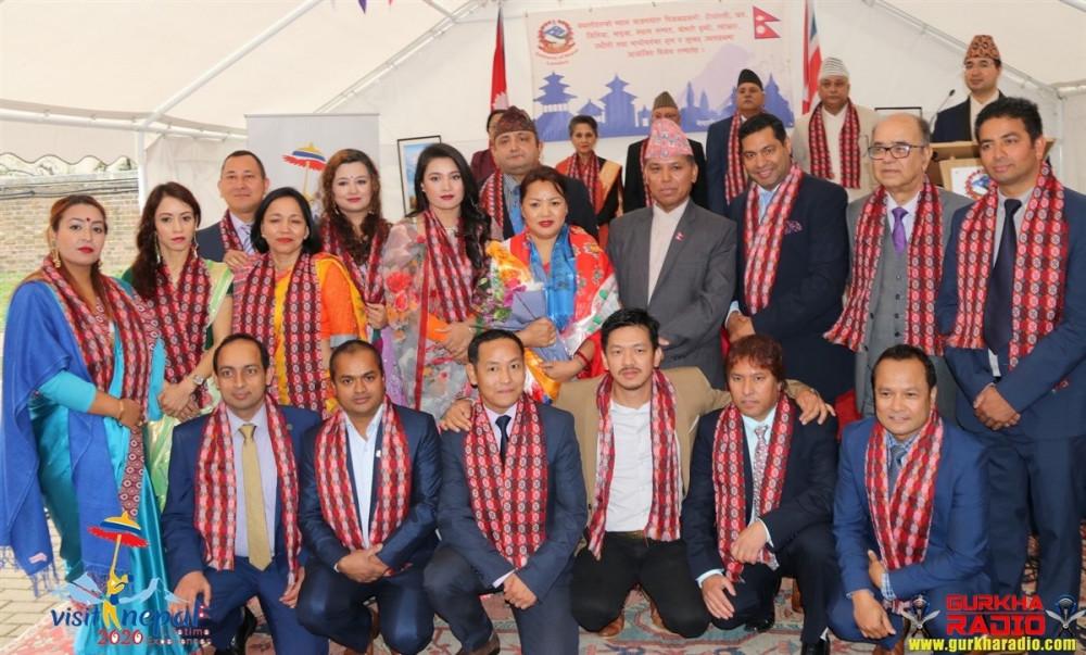 NRNA UK नव निर्बाचित टिम लाइ  नेपाली दुताबास लन्डन को सम्मान